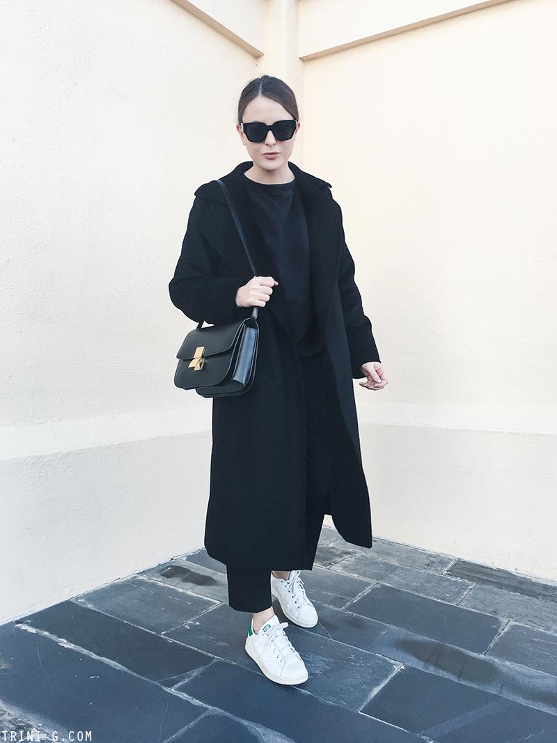 Trini |MaxMara Manuela coat Céline classic box bag