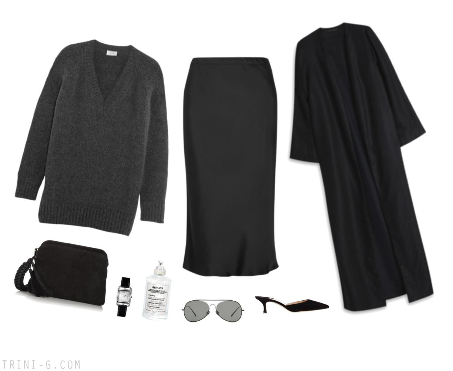 Trini   Prada sweater Manolo Blahnik mules