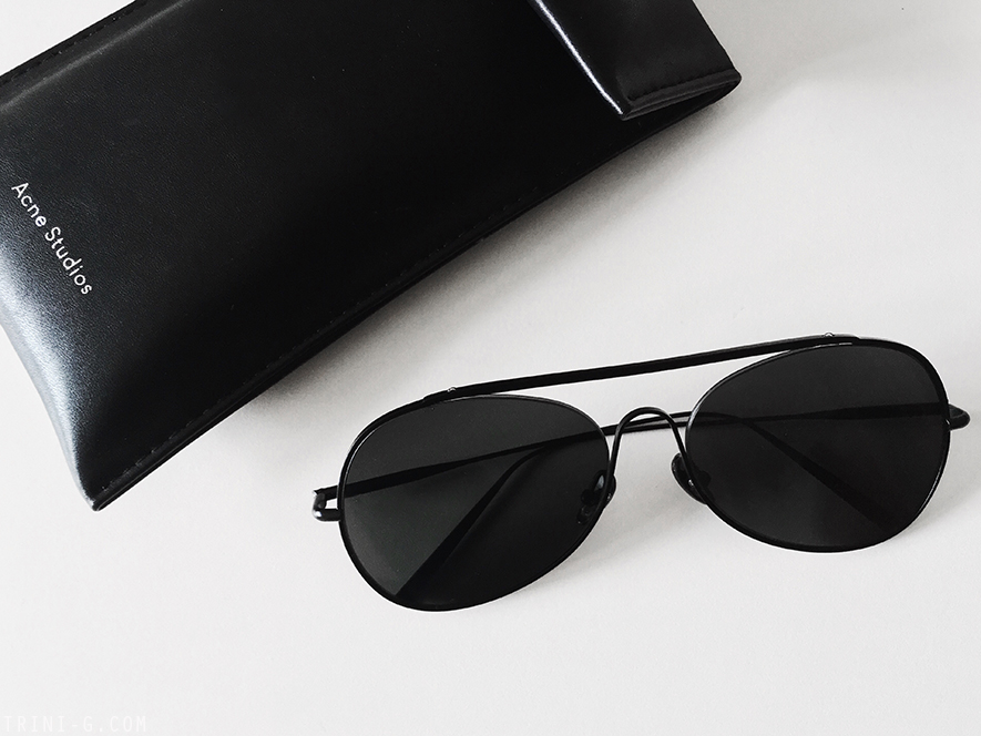 Trini |Acne Studios Spitfire large sunglasses