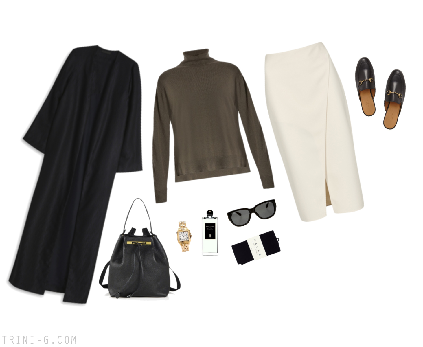 Trini |Acne Studios skirt The Row coat