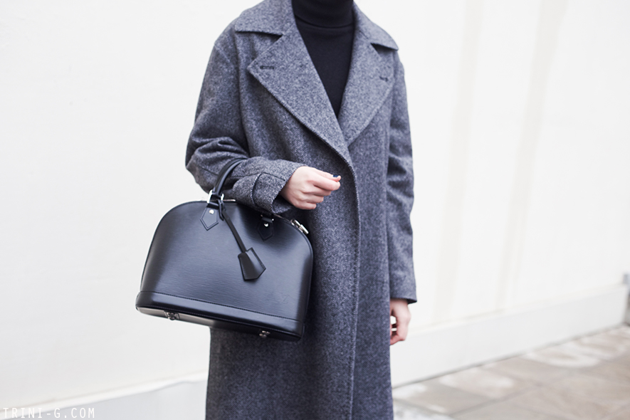 Trini  MaxMara grey goat Louis Vuitton Alma bag