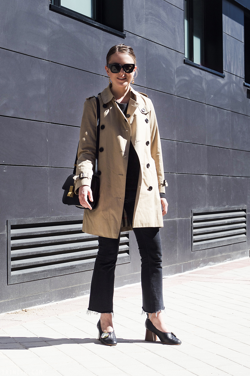 Trini |Burberry trench coat Céline ballerine heels