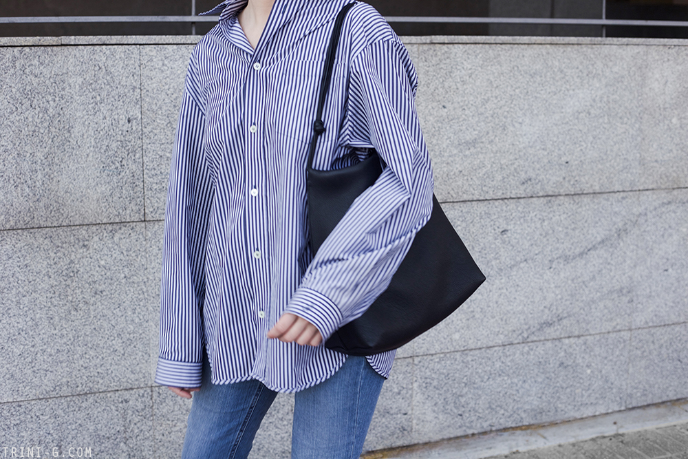 Trini | Balenciaga shirt The Row bag