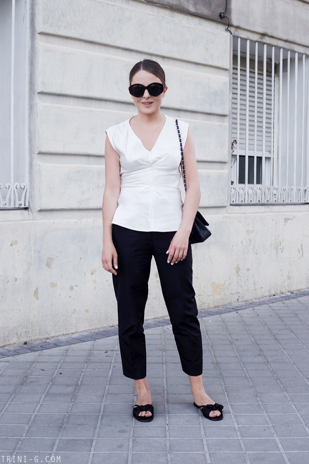 Trini |Isabel Marant top Prada trousers