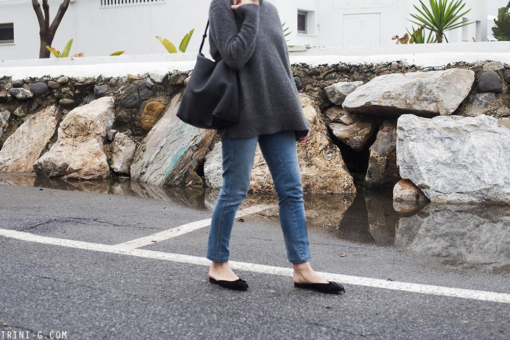 Trini | Khaite jeans Manolo Blahnik shoes
