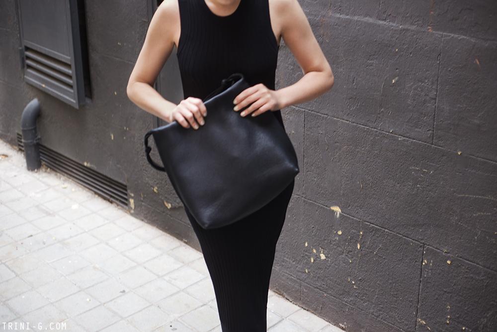 Trini   Acne Studios dress Céline toe ring sandals