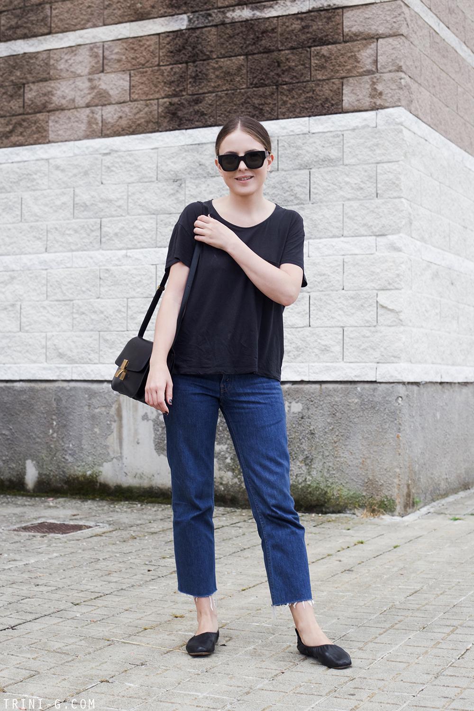 Trini |Levi's jeans Céline ballerina flats