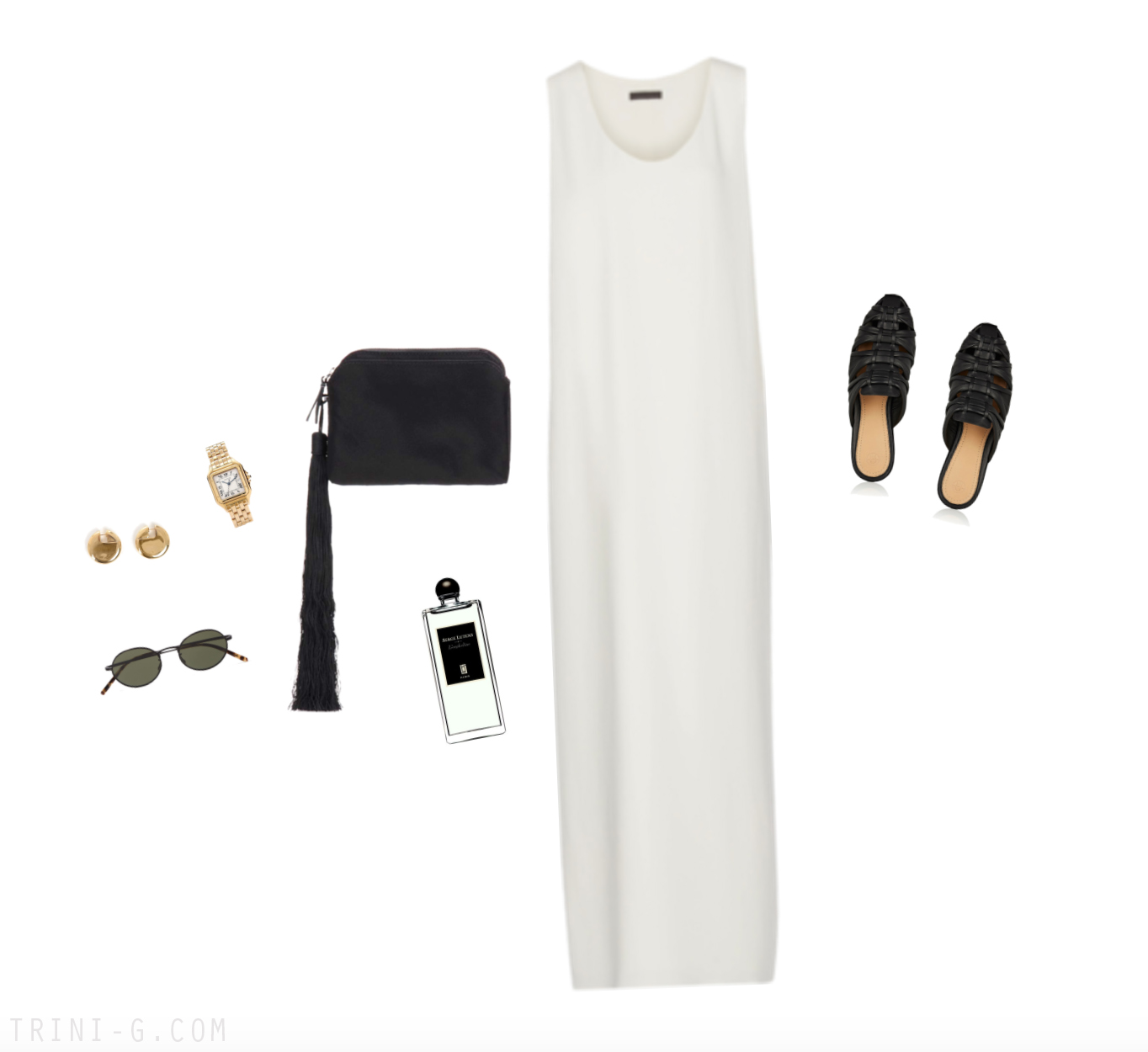 Trini | The Row dress Céline earrings
