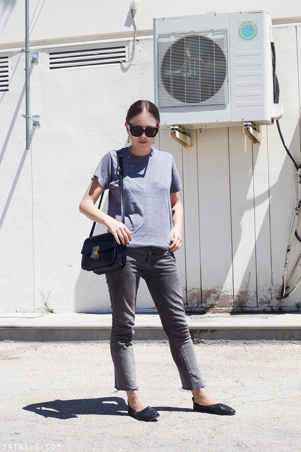Trini | American Apparel tshirt Topsho jeans