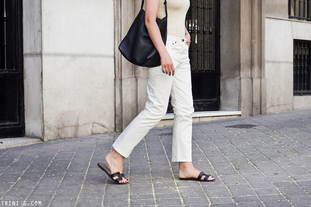 Trini | The Row jeans Céline ribbed top
