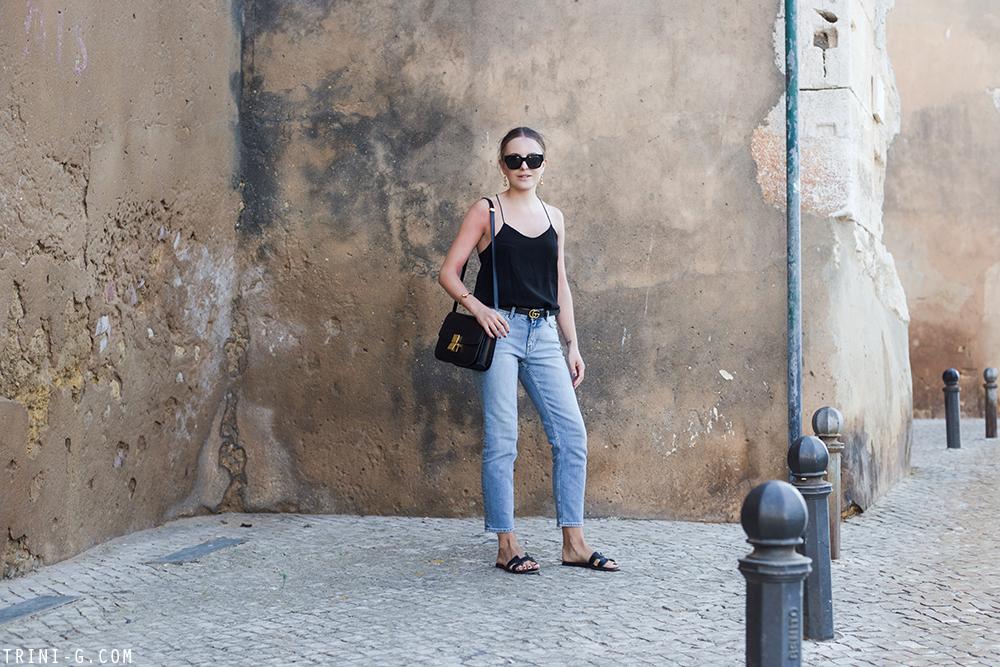 Trini | Acne Studios jeans Tibi camisole