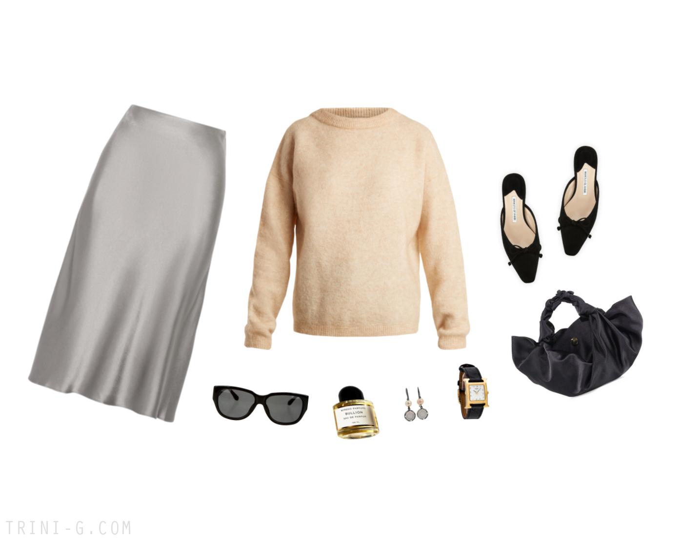 Trini | Acne Studios sweater  Protagonist skirt