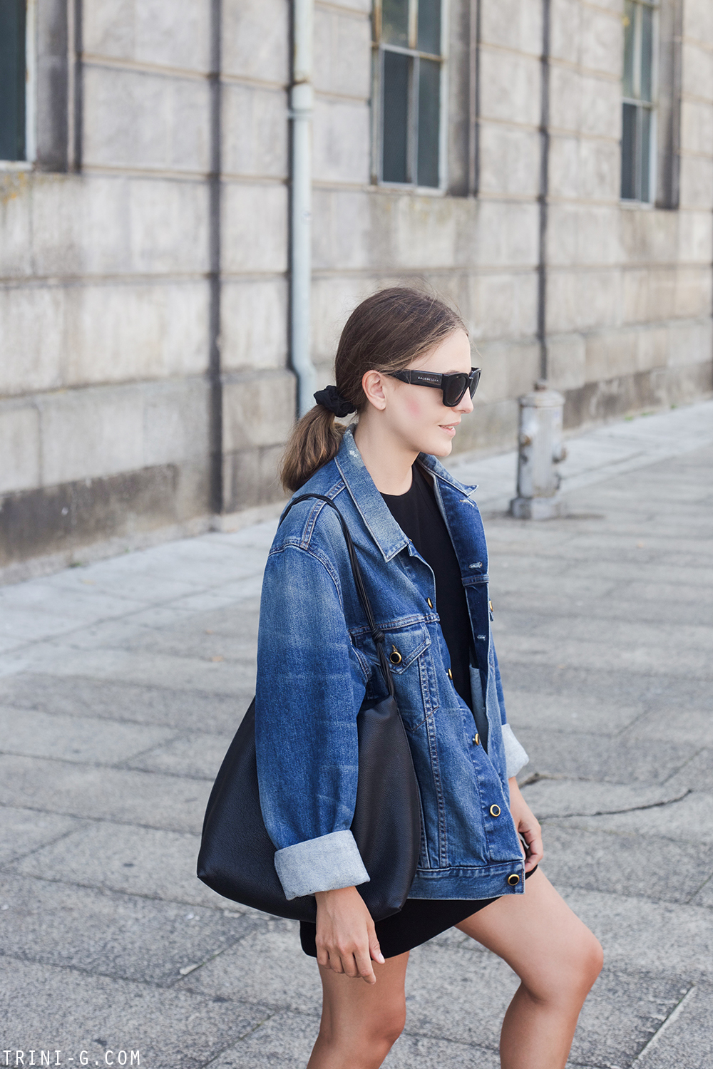 Trini | Filippa K dress Khaite denim jacket