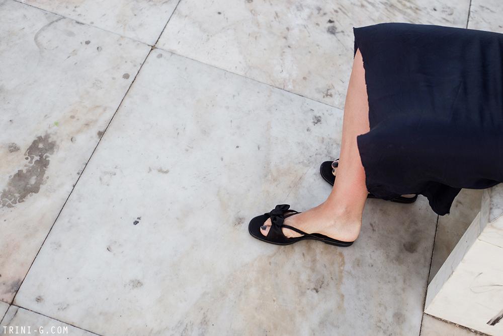 Trini | Organic by John Patrick slip dress The Row sandals