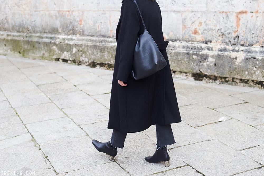 Trini | MaxMara Manuela coat The Row bag Céline Bam Bam ankle boots