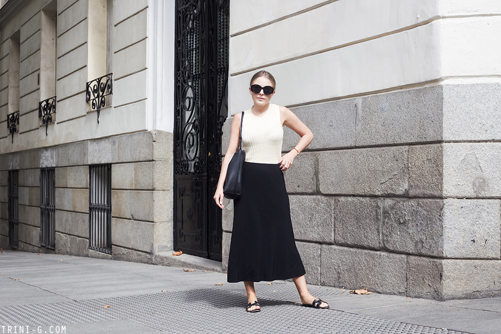 Trini | The Row skirt Céline top