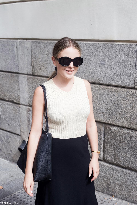 Trini | The Row skirt Céline top
