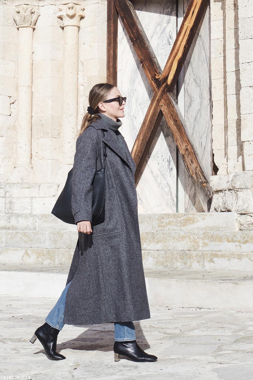 Trini |Max Mara coat Balenciaga turtleneck Celine Bam Bam boots