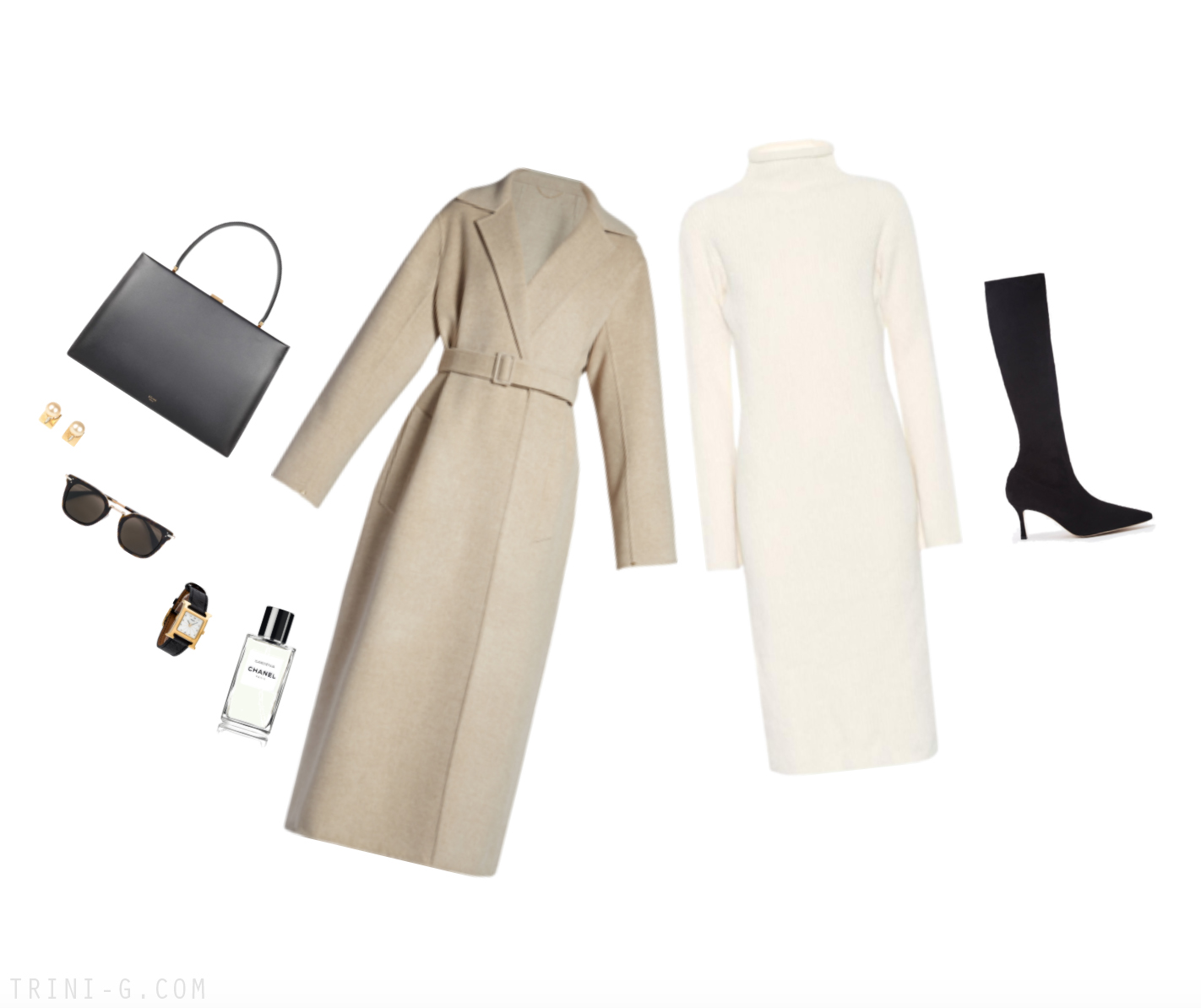 Trini | The Row dress Manolo Blahnik boots