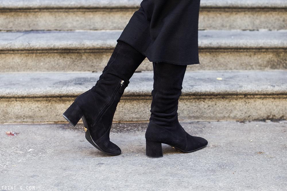 Trini | Isabel Marant skirt Prada boots