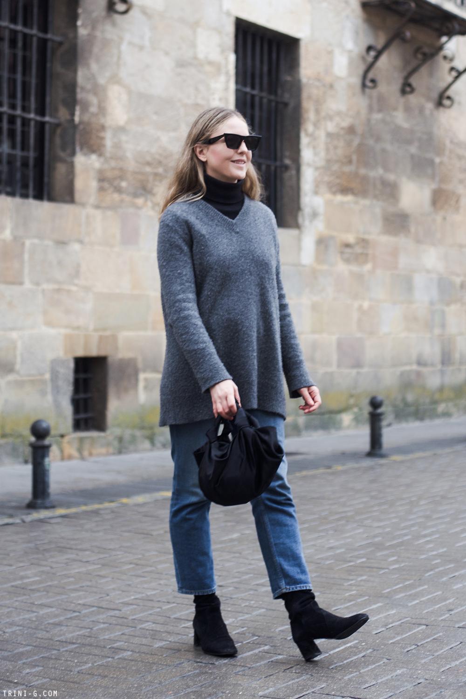 Trini | Acne Studios jeans The Row sweater