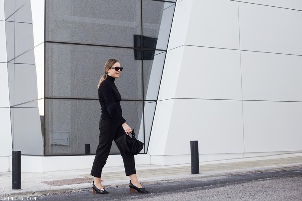 Trini | Jacquemus sweater Céline ballerina heels