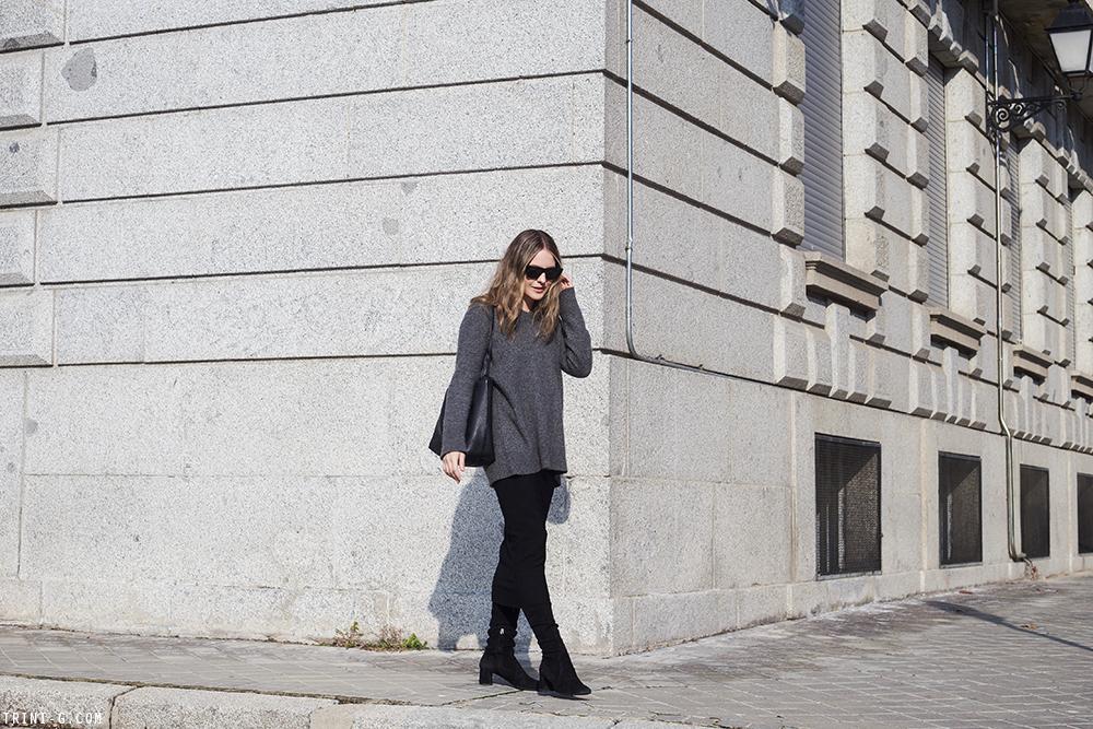 Trini   Prada boots Isabel Marant skirt The Row sweater