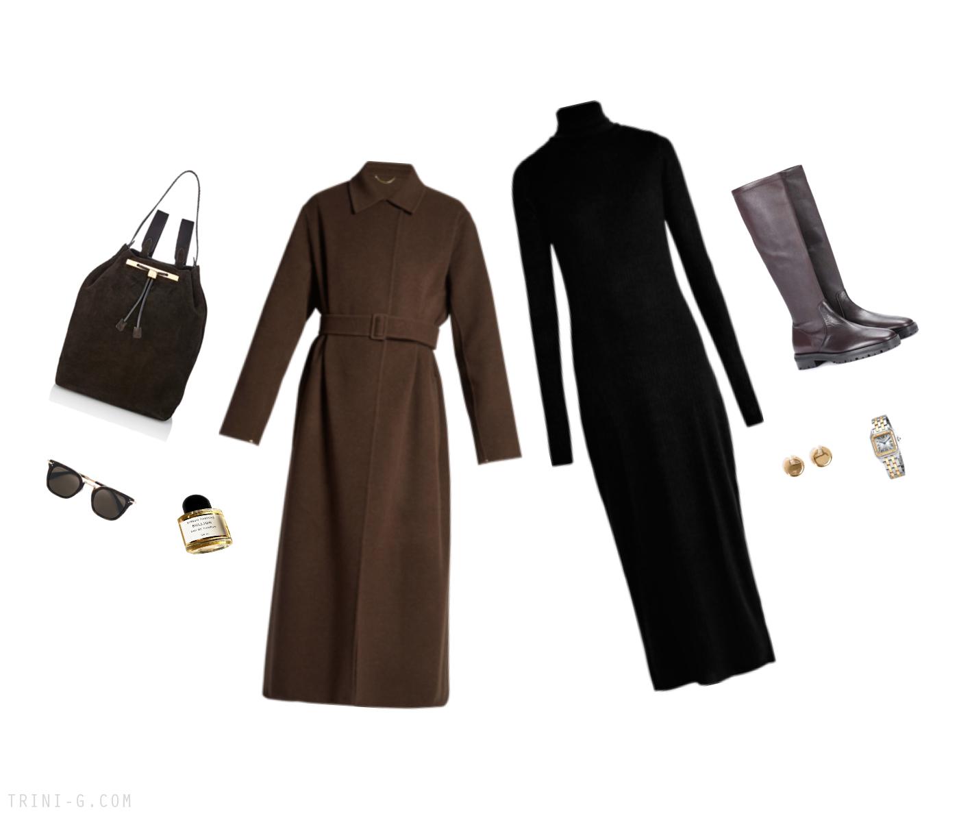 Trini | The Row coat Raey dress