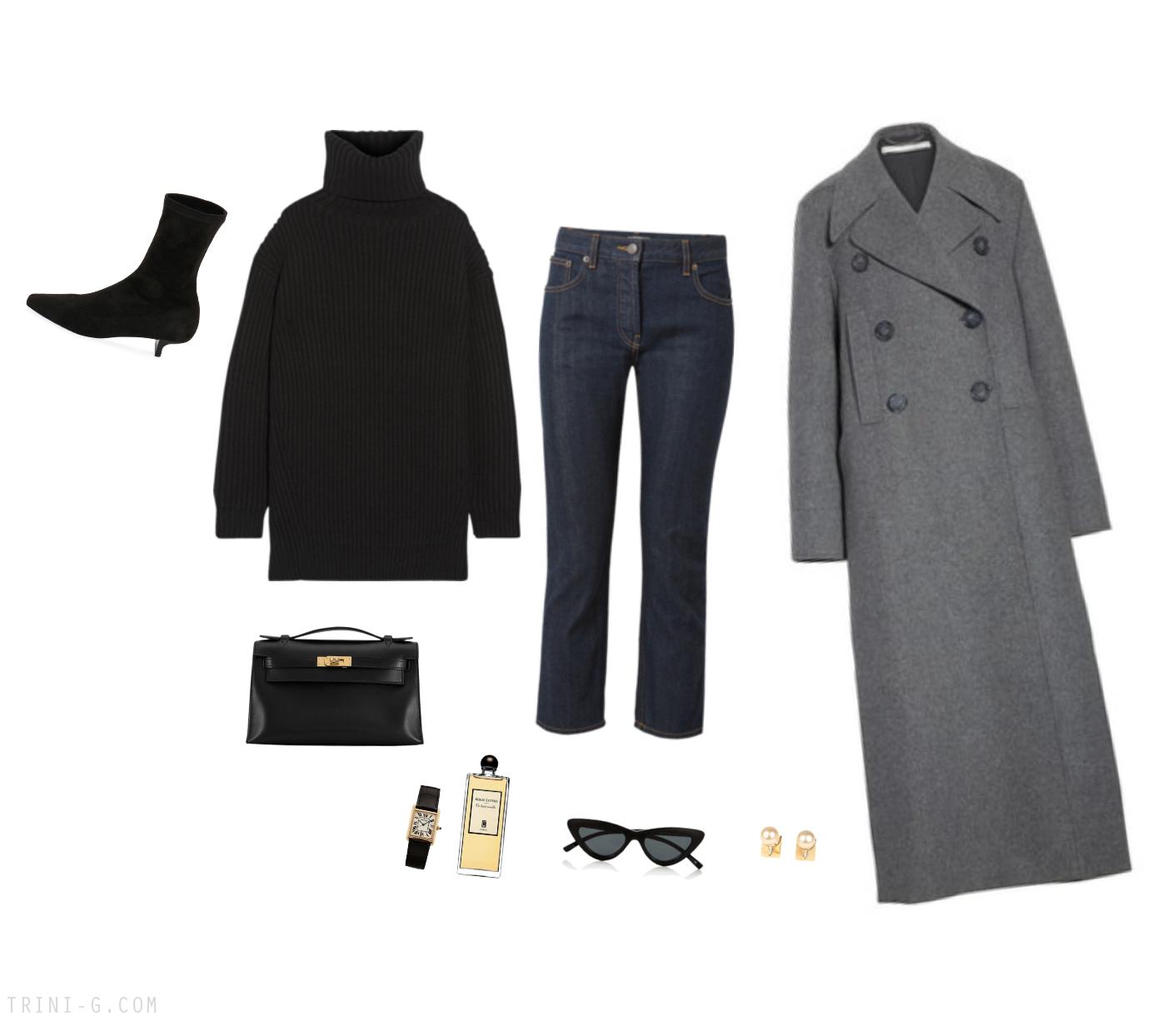 Trini | Stella McCartney coat The Row jeans