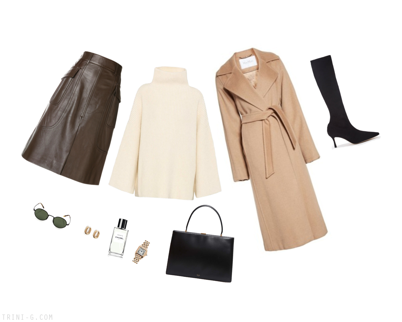 Trini | Prada skirt MaxMara coat