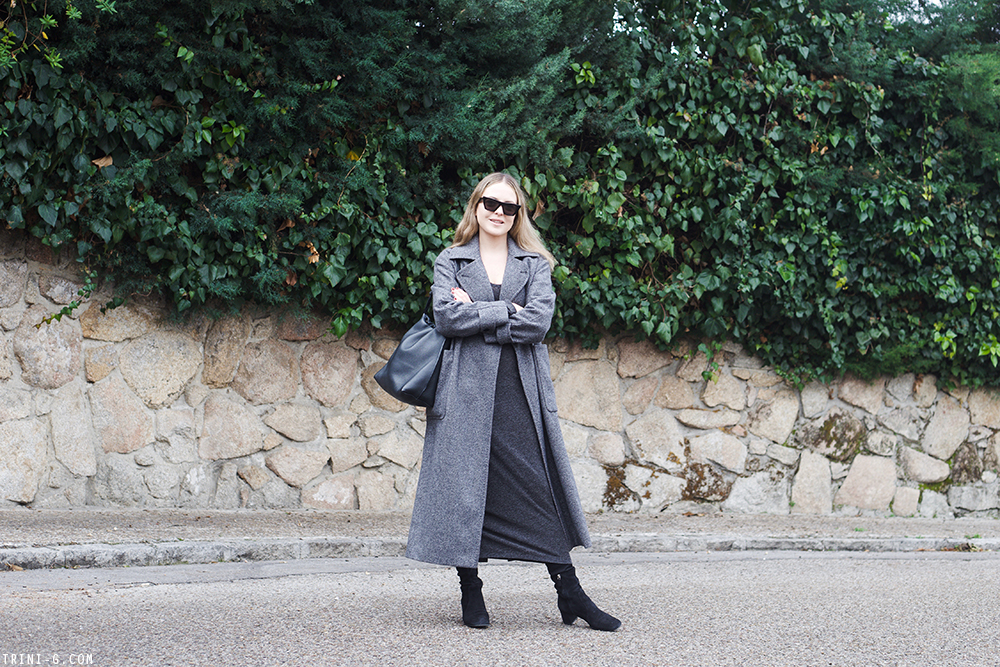 Trini | Max Mara coat T by Alexander Wang dress