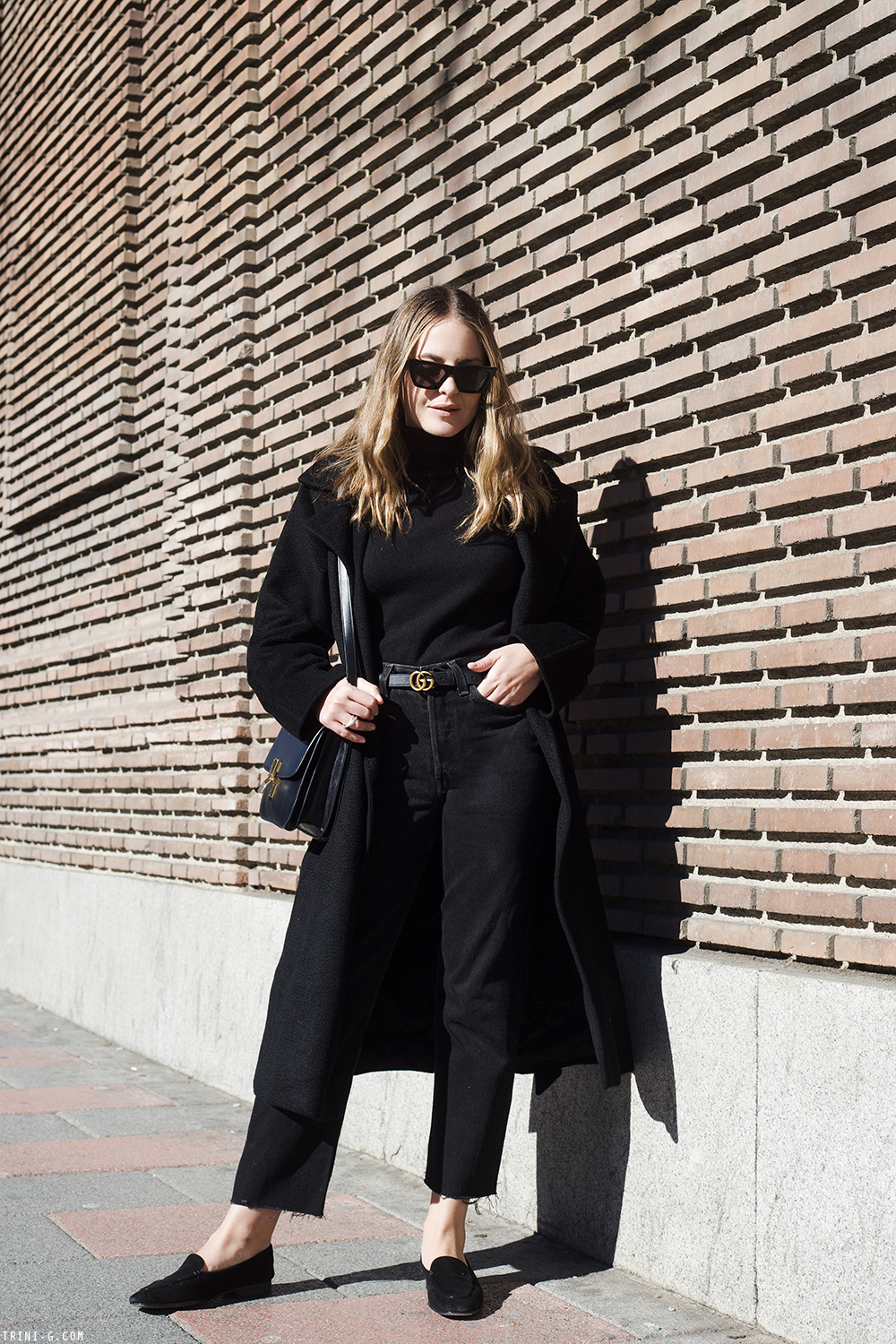 Trini | Max Mara coat Levis jeans The Row loafers