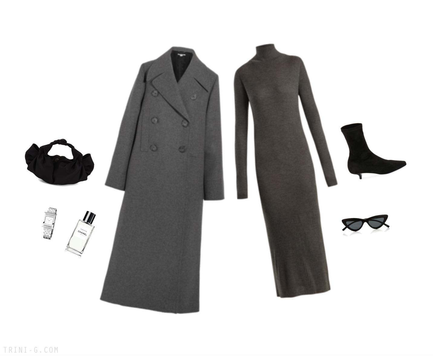 Trini | Raey dress Stella McCartney coat The Row bag