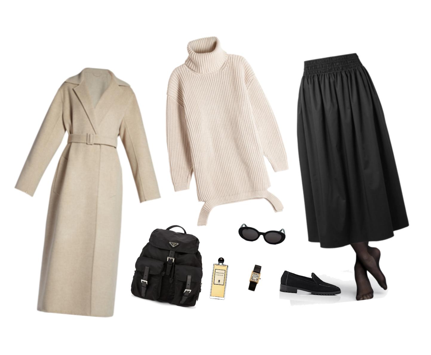Trini   The Row skirt Prada backpack