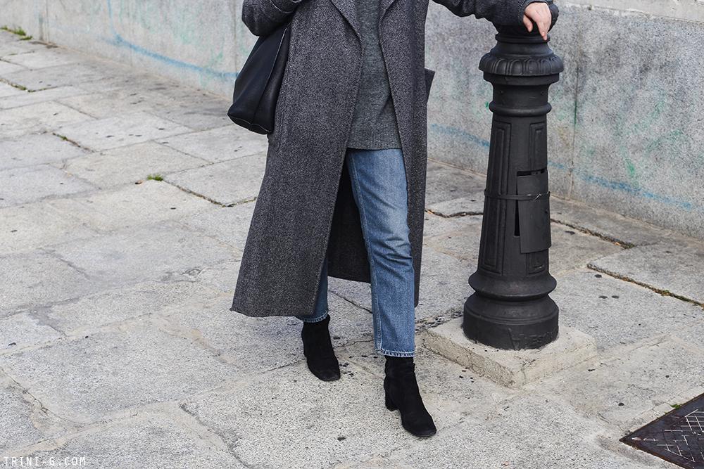 Trini | Max Mara coat Acne Studios jeans Prada boots