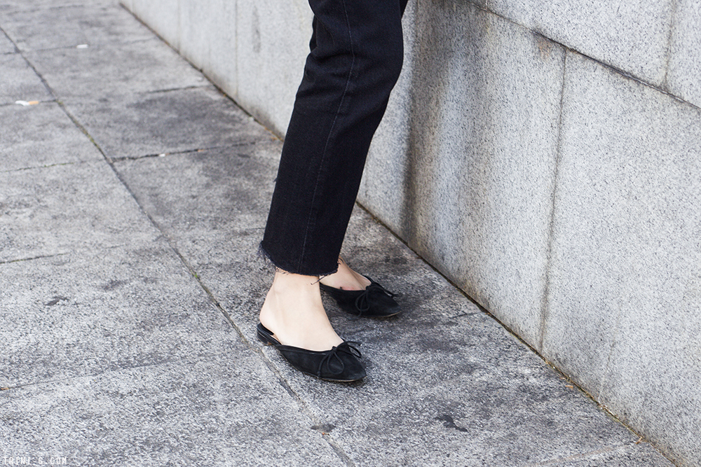 Trini | Balenciaga striped shirt Levi's 501 jeans