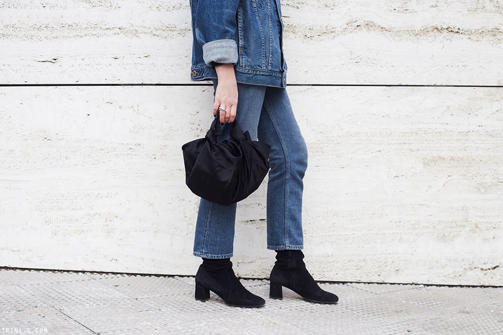 Trini | Khaite denim jacket Acne Studios jeans