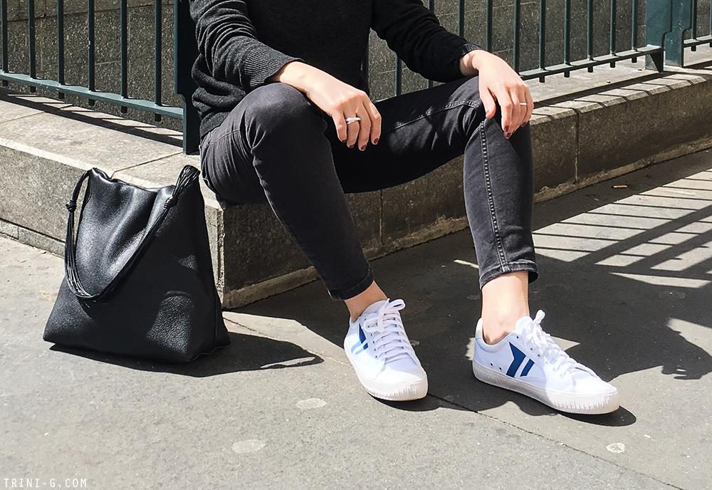 Trini | Baleniaga jeans Céline sneakers