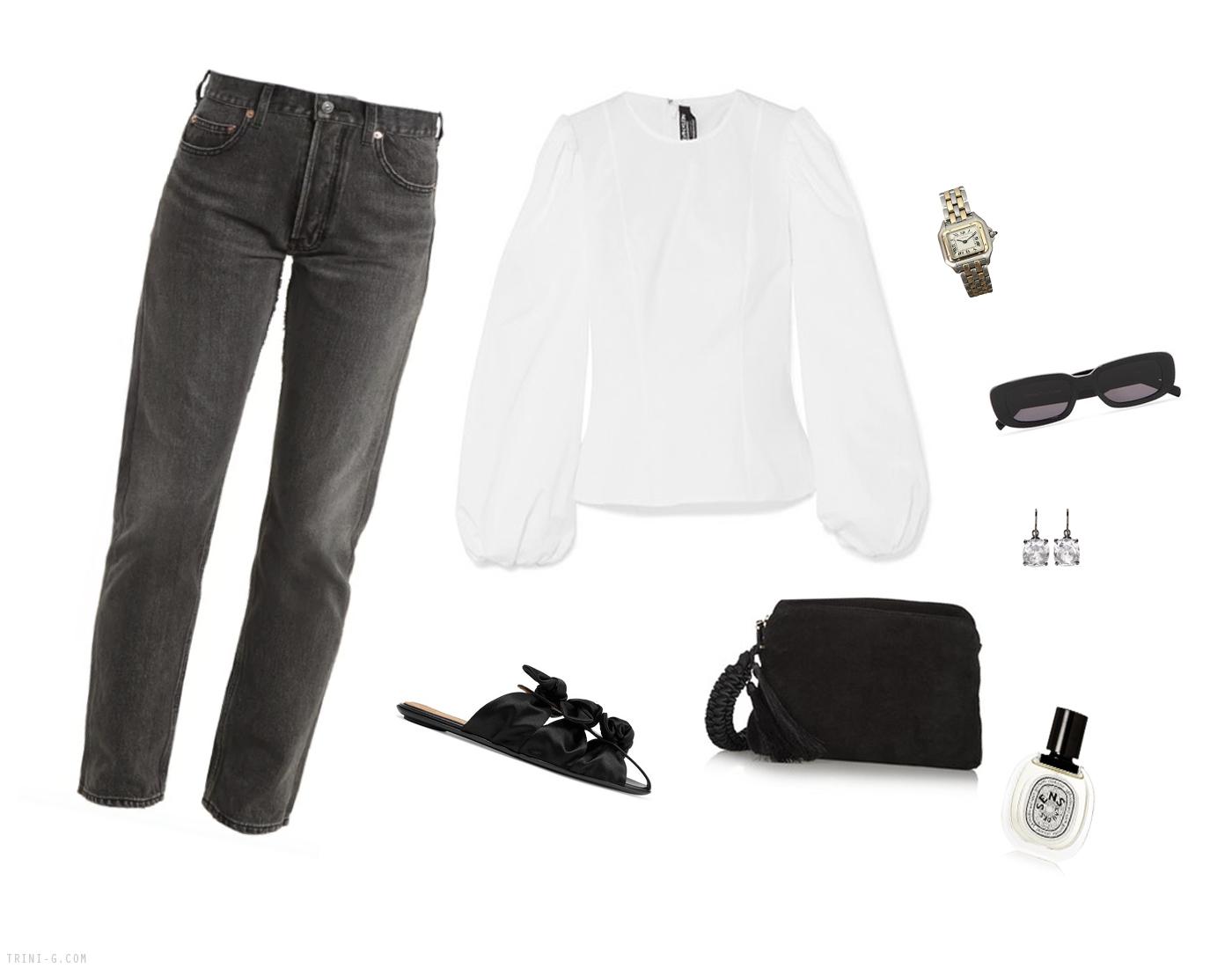 Trini | Balenciaga jeans Calvin Klein top