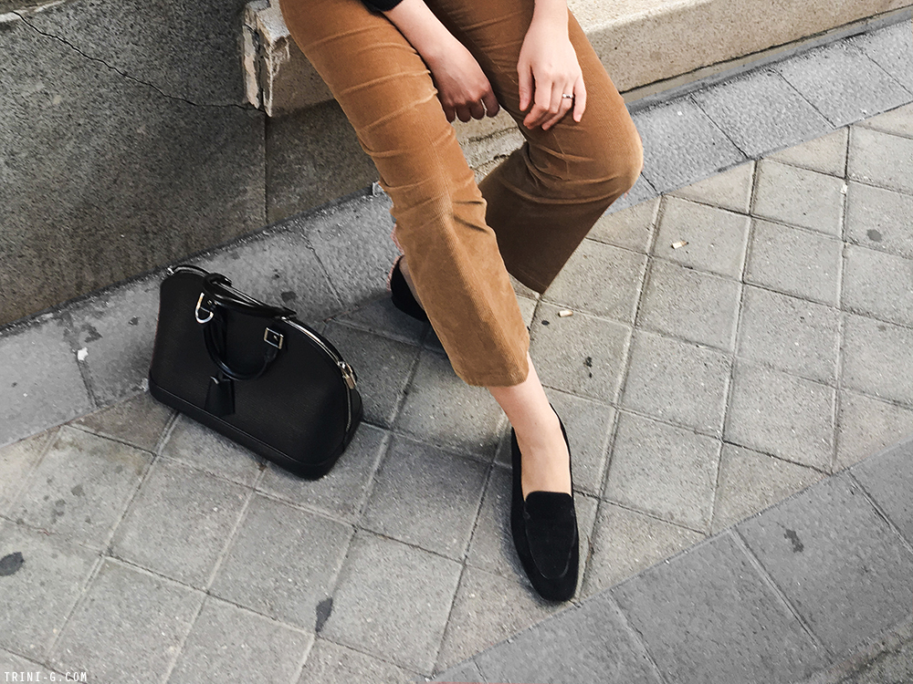 Trini | Prada corduroy pants The Row Adam loafers