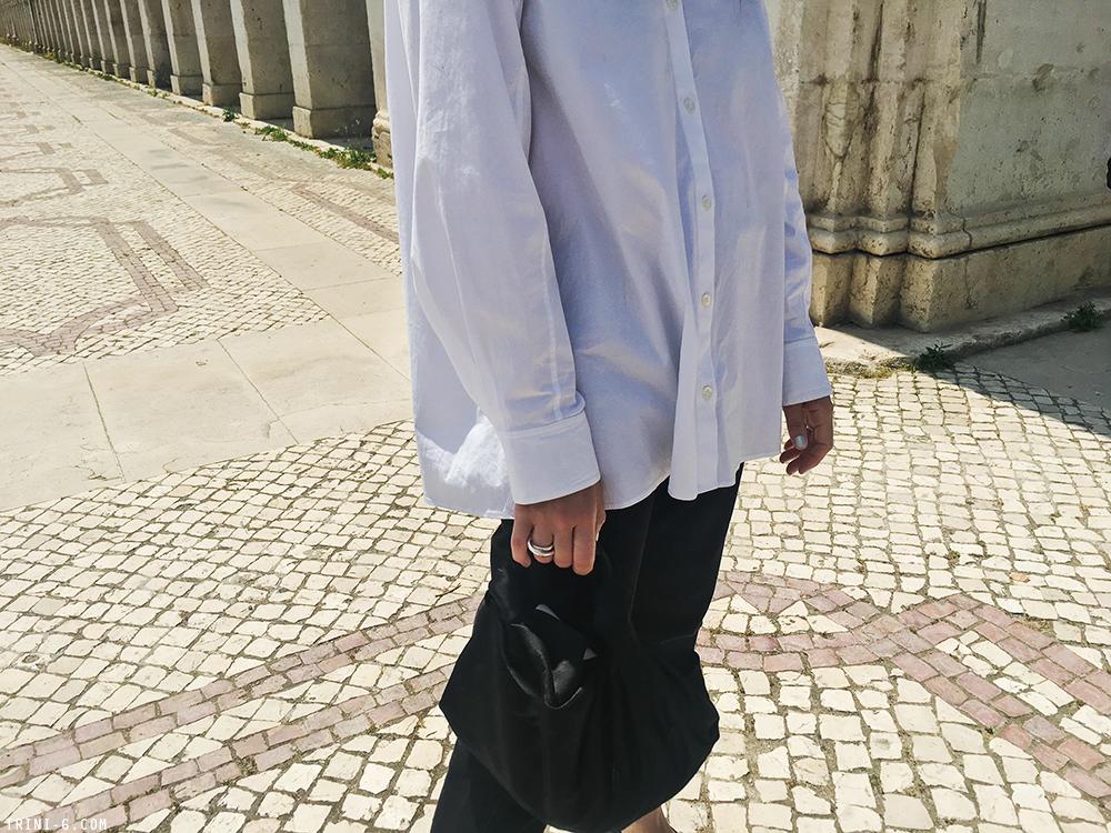 Trini | Levis 501 jeans The Row shirt
