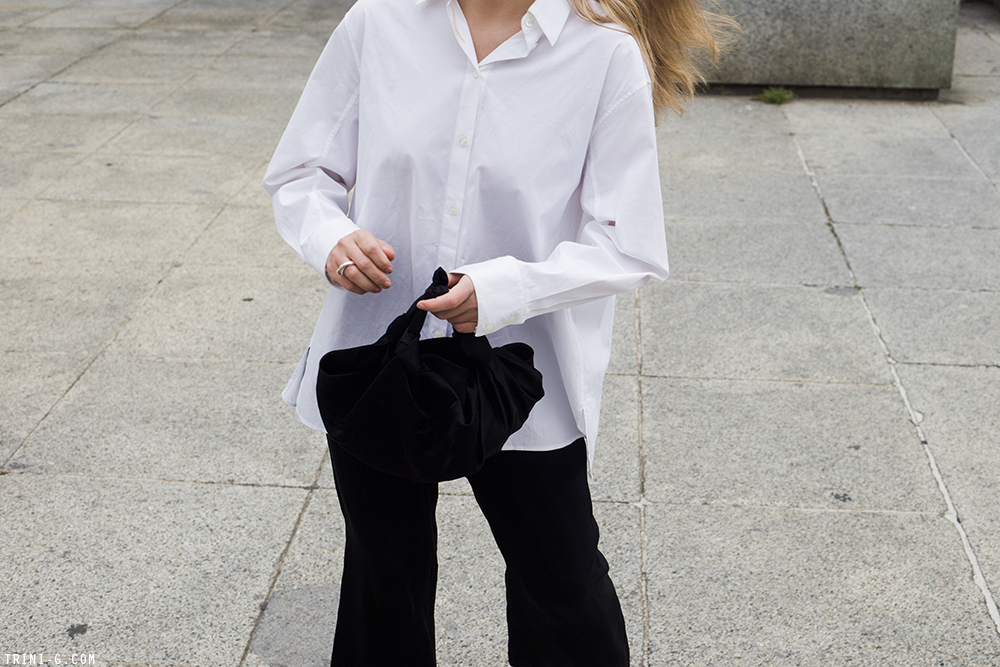 Trini | The Row shirt Theyskens Theory pants