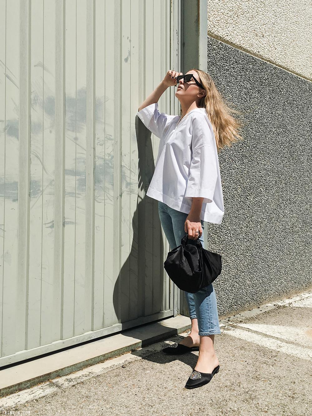 Trini |Balenciaga top Acne Studios jeans