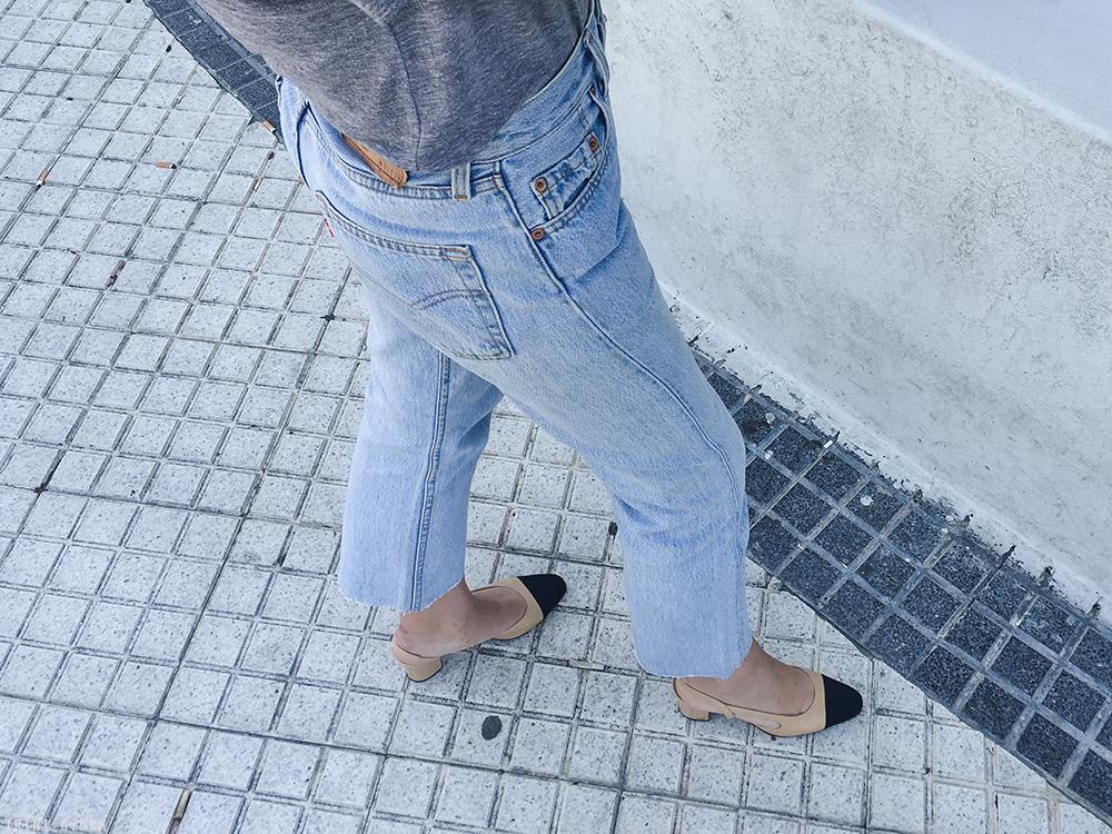 Trini | American Apparel t-shirt Levi's vintage 501 jeans