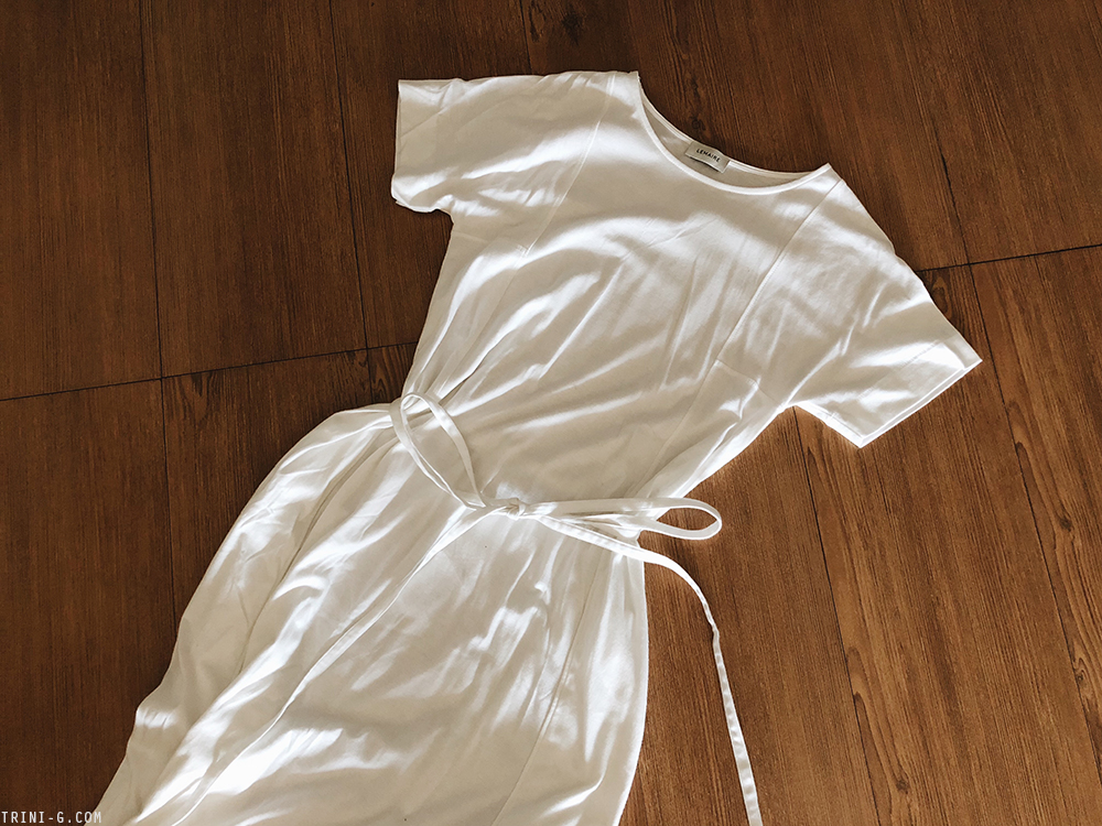 Trini |Lemaire white cotton dress