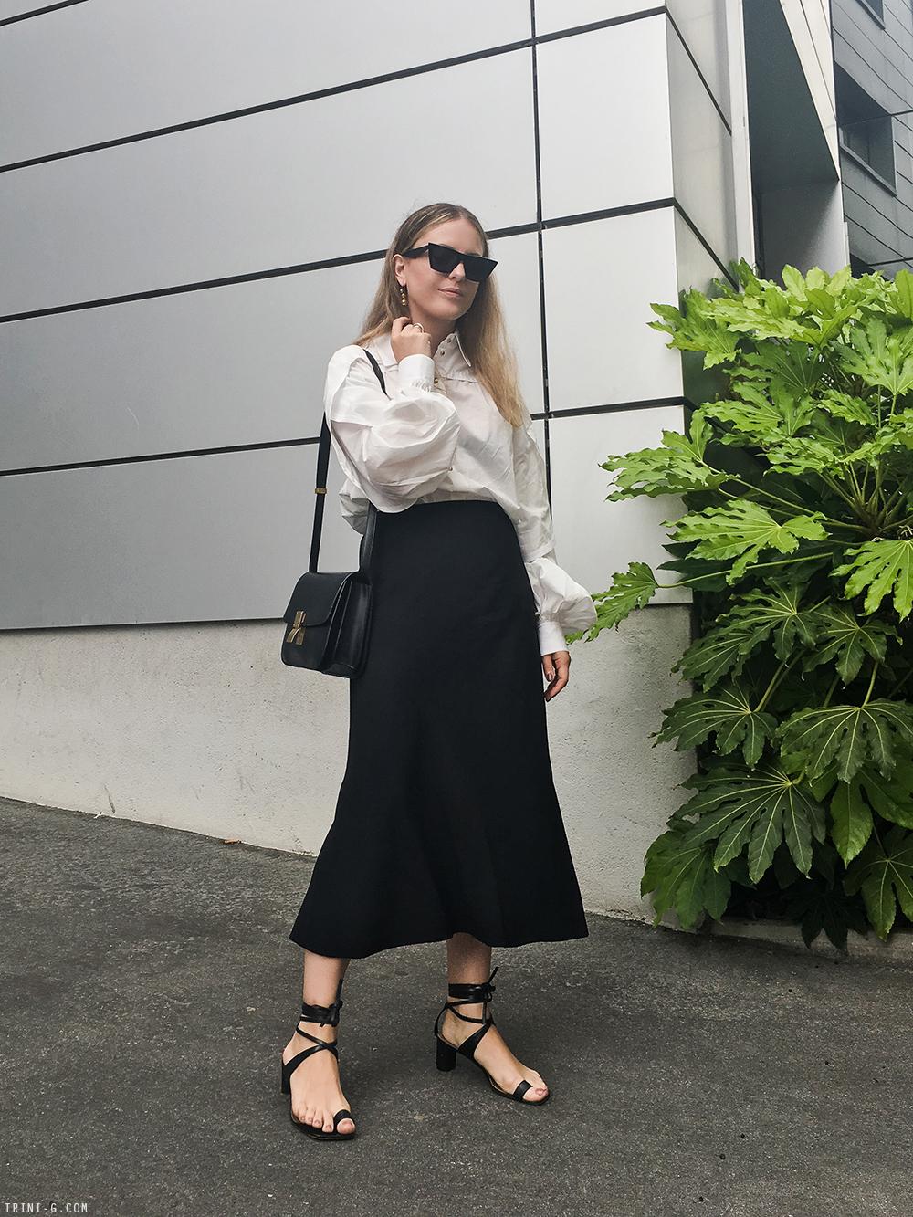 Trini   Céline shirt The Row skirt