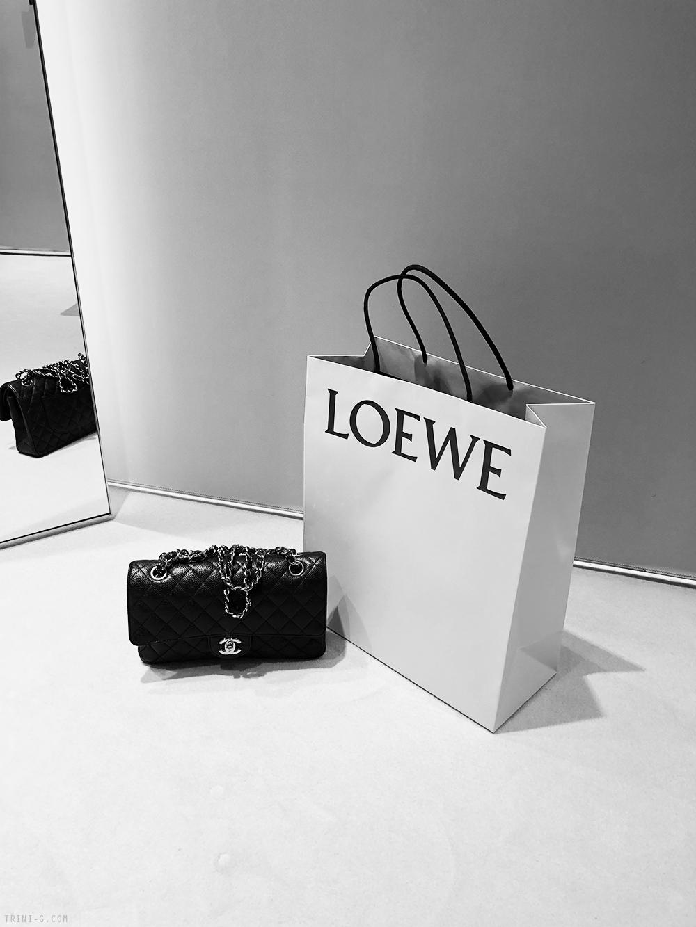 Trini |Chanel classic flap bag Loewe bag