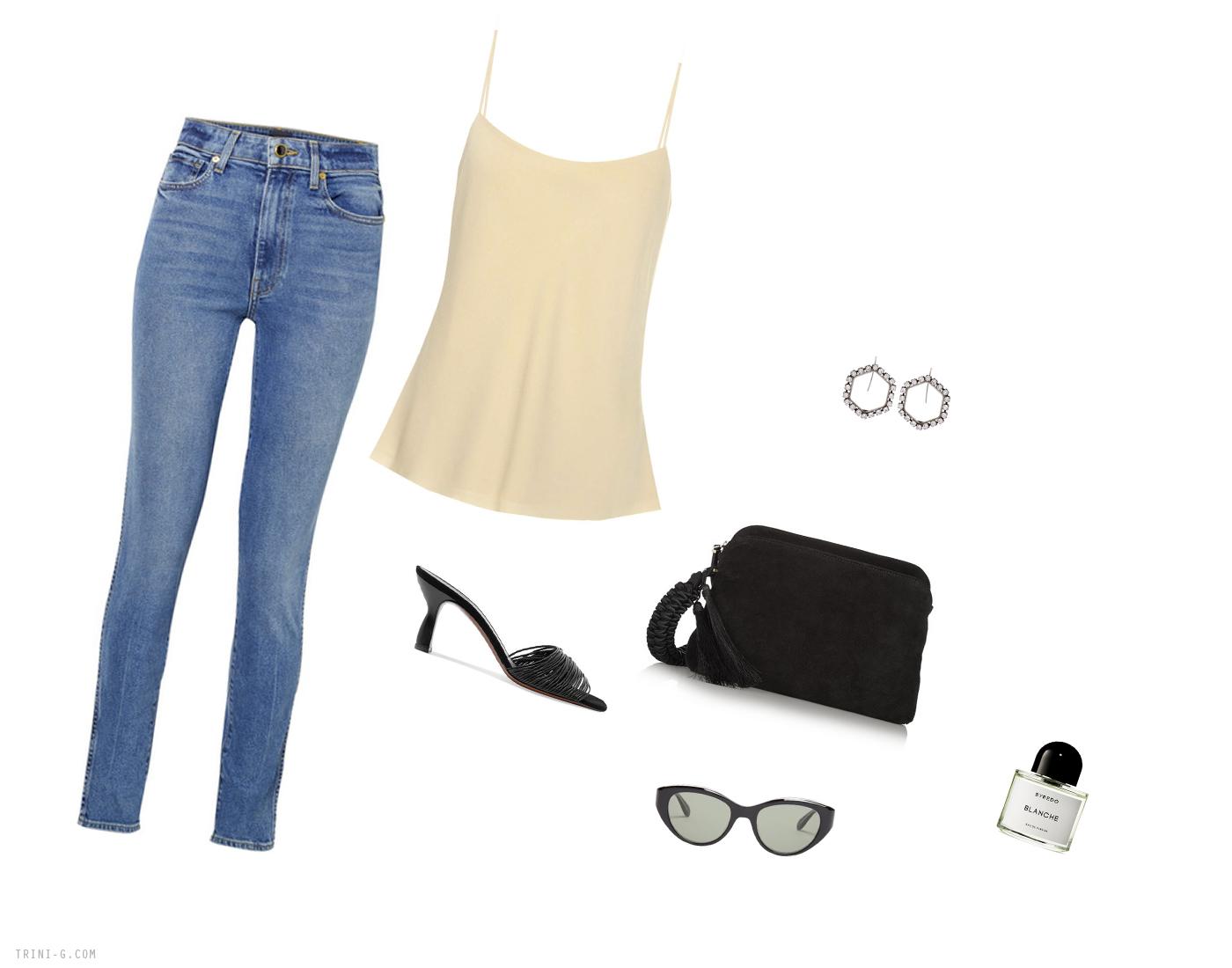 Trini | Khaite jeans The Row camisole