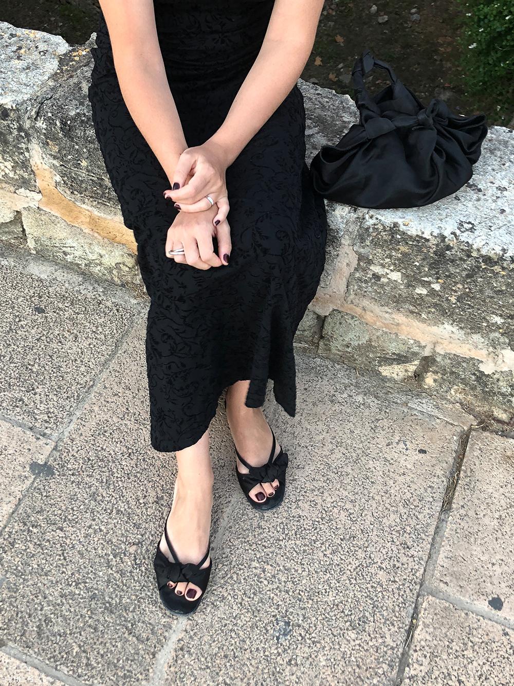 Trini |vintage Armani dress The Row sandals