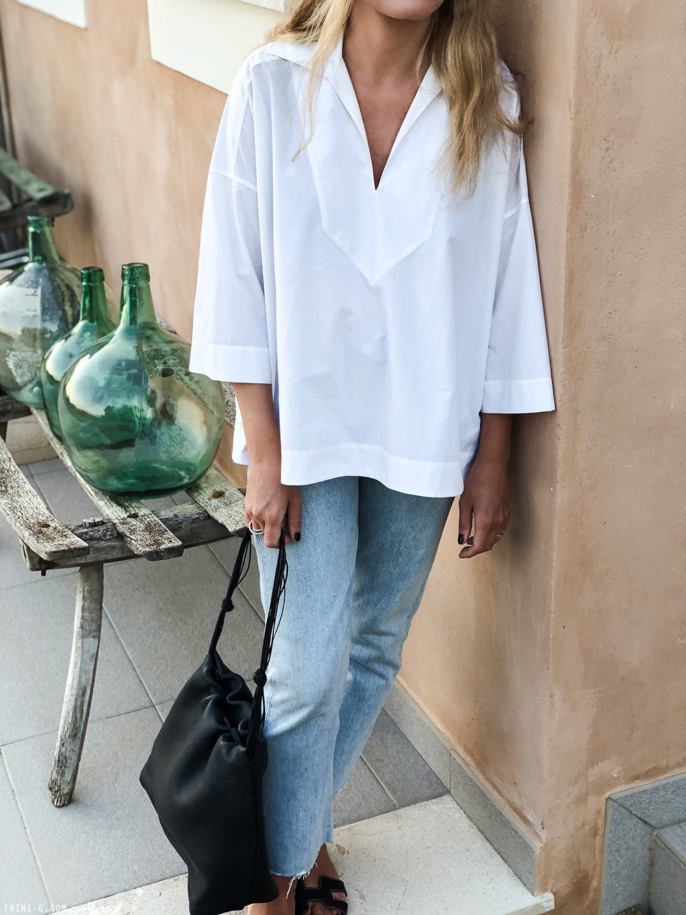 Trini | Balenciaga top Levis vintage 501 jeans